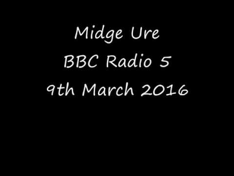 Midge Ure interview on death of George Martin - BBC Radio 5 : 9th March 2016