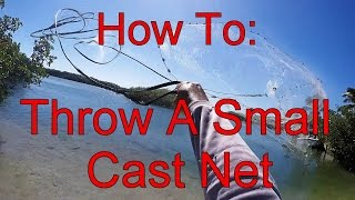 How To Throw A SMALL Cast Net - All About The Bait - Part 1