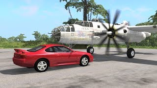 Beamng drive - Spinning Plane Propeller against Cars