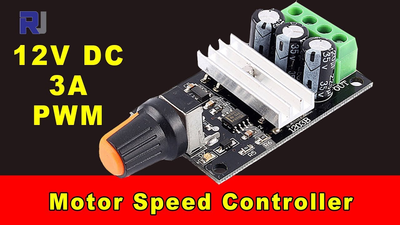 Pwm Dc Power Controller Schematic Test Review Of 12v 3a Motor Speed Youtube