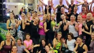 SkyJumping / СкайДжампинг  фитнес на батуте конвенция Lviv Fitness Weekend 2017