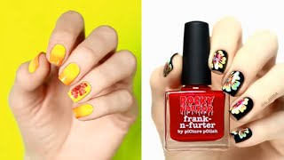 Flower Color mix nail art tutorial with toothpick and brush