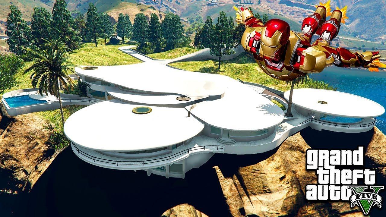Гта 5 моды Новый дом Железного Человека! ОБЗОР МОДА В GTA 5! ВИДЕО GTA V MODS