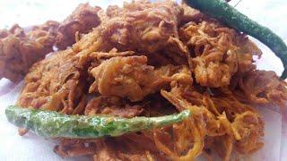 Kanda bhaji l Onion Pakora l Pakora recipe l Ramadan Recipes 2018