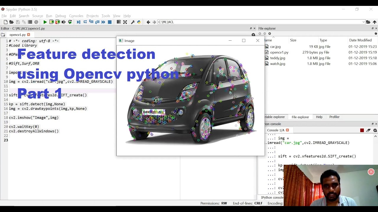 Feature detection using opencv - OpenCV tutorial | Computer Vision | Image  Processing