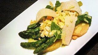 Composed ASPARAGUS SALAD (Italian / Russian Cuisine) Restaurant Recipe