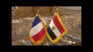 """شاهد.. زيارة وزير دفاع فرنسا لـ""""جمال عبدالناصر"""" و""""تحيا مصر"""""""