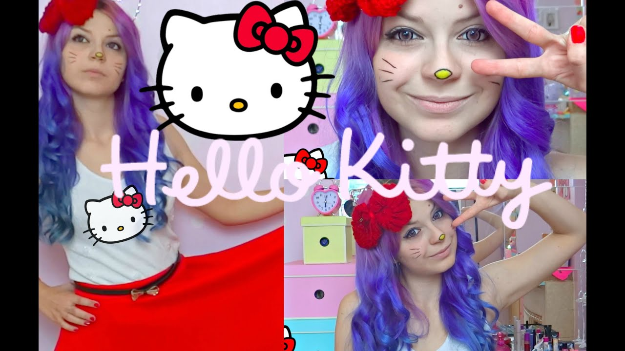 c1628b8c32d08 DIY Hello Kitty Costume - With New Dress - YouTube