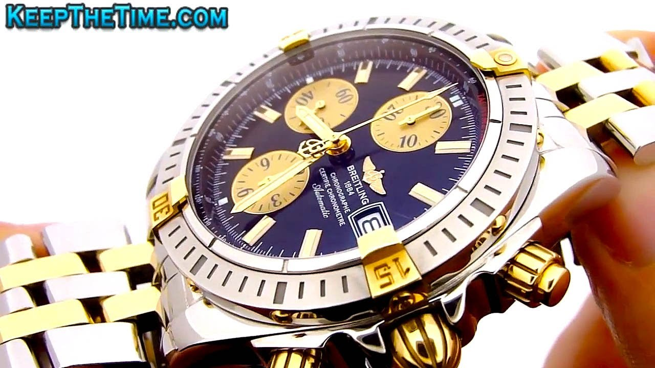 513a38b27d1d Breitling Chronomat Evolution Windrider Two-Tone Watch - YouTube