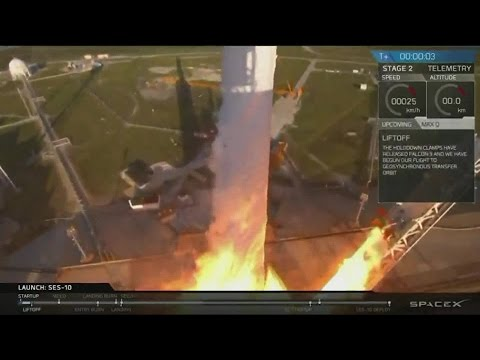 SpaceX launches its first recycled rocket at Kennedy Space Center in historic leap