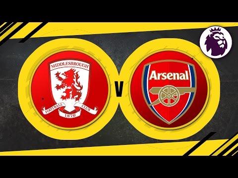 MATCH DAY LIVE 2016/17 - Middlesbrough v Arsenal // Premier League
