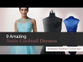 9 Amazing Satin Cocktail Dresses Amazon Fashion Collection