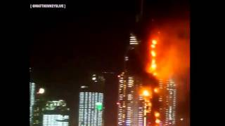 BREAKING NEWS - Luxury Dubai hotel catches on fire