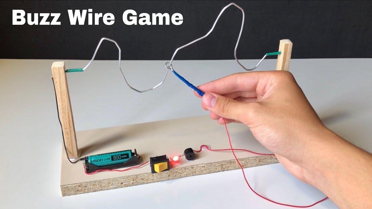 How to Make Amazing Buzz Wire Game at Home - YouTube