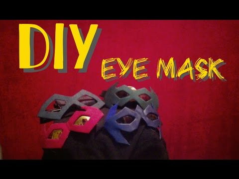How to Make An Eye Mask - Process Video