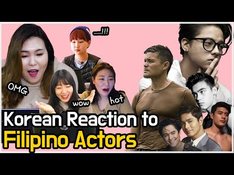 Who is the most handsome? 20~30 Korean girls Reaction to Filipino actor [eng sub]