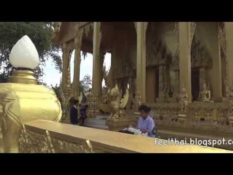 โบสถ์สีทอง วัดปากน้ำโจ้โล้  ตำนานรบพระเจ้าตาก บางคล้า ฉะเชิงเทรา