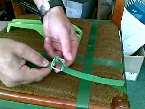 Упаковка с помощью проволочной пряжки и натяжителя!