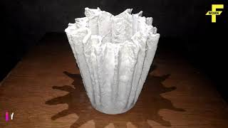 How to make flower pot with cloth and cement
