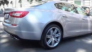 2014 Maserati Quattroporte Q4 sound and Details