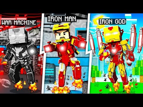 PLAYING AS EVERY IRON MAN IN MINECRAFT!