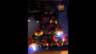 Mr christmas 10 lighted musical brass bells