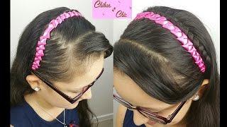 Bows Headband with Ribbons!! | Braided Hairstyles | Braided Headband