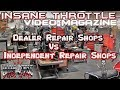🤔Discussion on whether Dealer Motorcycle Repair Shop or Independent Repair Shop. Whats better?💥💥
