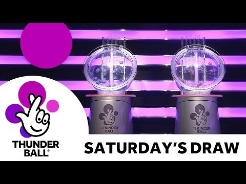 The National Lottery 'Thunderball' draw results from  Saturday 12th May 2018