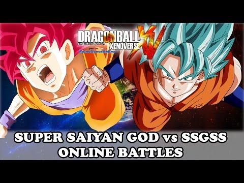 Super Saiyan God vs SSGSS Goku - Dragon Ball Xenoverse Online Battles