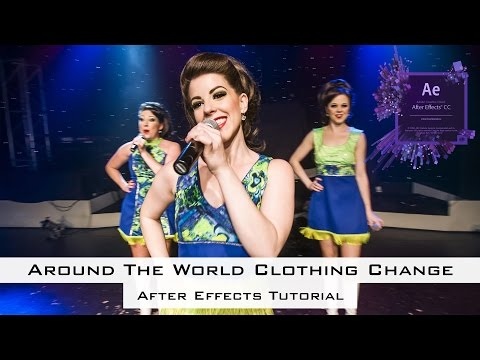 How to Create Around the World Clothing Change in After Effects
