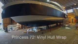 Princess 72 Motor Yacht Vinyl Wrap by Wild Group International