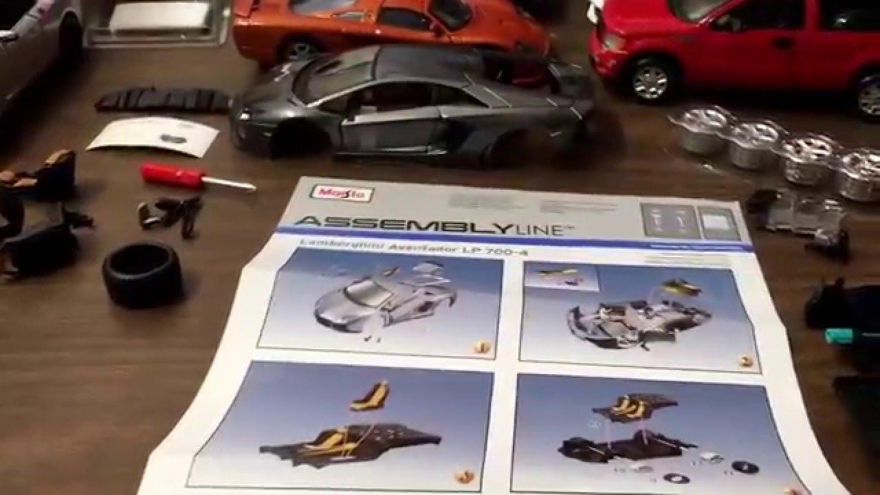 Unboxing Lamborghini Aventador 1/24 embly line - YouTube on