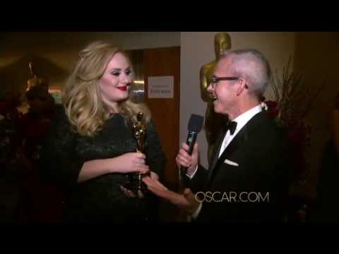 Adele - Oscars 2013 backstage - Interview EW's Jess Cagle
