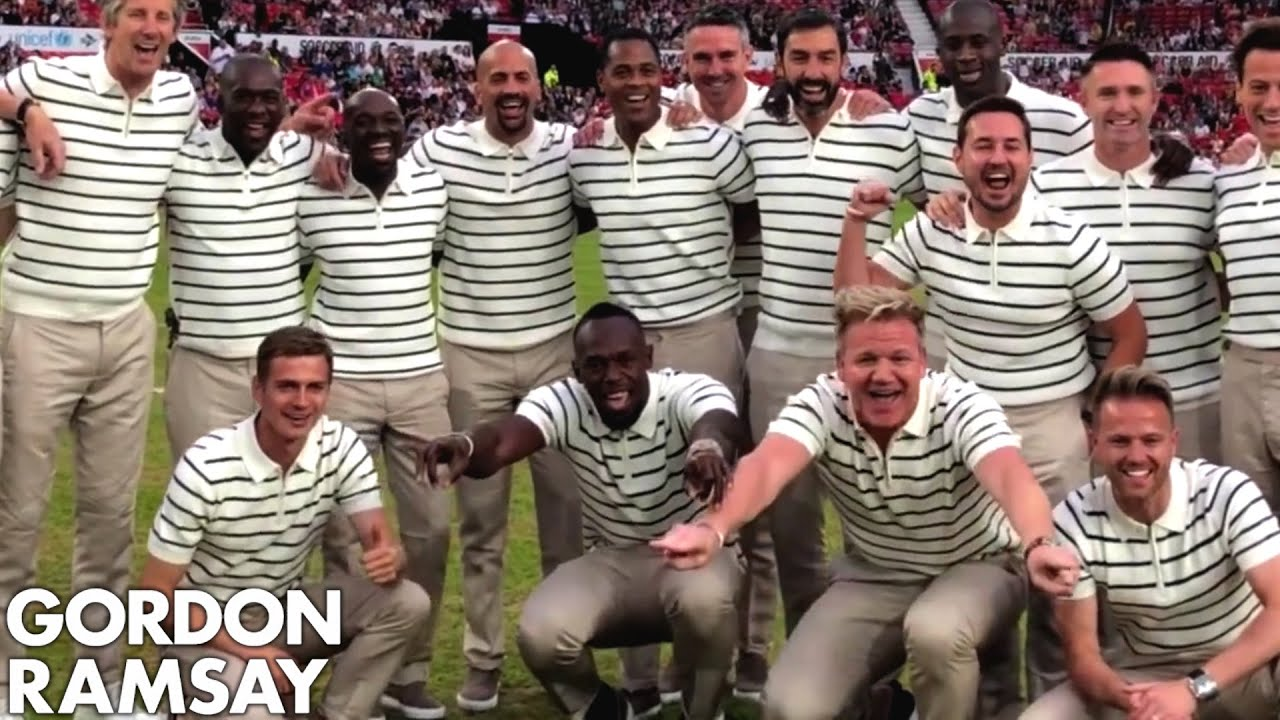 Gordon Ramsay & Usain Bolt Playing Football | Behind the Scenes at Soccer Aid