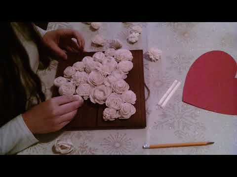 Sola Wood Flower Heart. How to create your own heart board. Great Christmas gifts. Wood flowers
