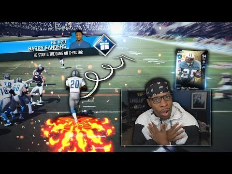 Barry Sanders STARTS The Game With His X-Factor ... Madden 20 Ultimate Team
