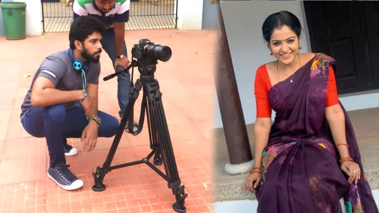Kumaran working spot   Chitra new photos   hema comedy talk