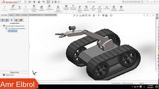 Creating an Exploded View for ( bomb disposal robot )