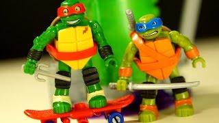 Черепашки Ниндзя МЕГА БЛОКС - MegaBloks Teenage Mutant Ninja Turtles - Видео Обзор на русском