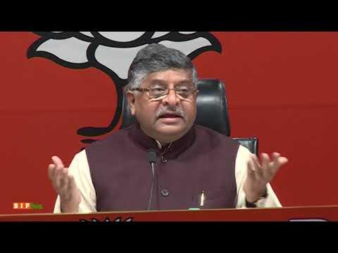 Press Conference by Shri Ravi Shankar Prasad at BJP Head Office, New Delhi