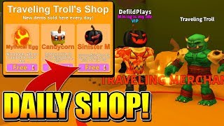 DAILY SHOP UPDATE GIVES INSANE ITEMS IN ROBLOX MINING SIMULATOR!
