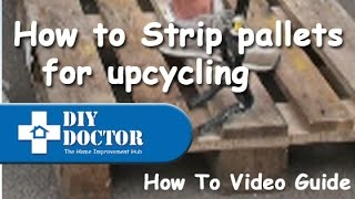 Stripping Pallets For Upcycling. Using A Roughneck Demolition Bar