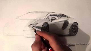Как нарисовать машину / Рисую ламборджини(Приветствую вас друзья! С вами Владимир Пономарев. Сегодня для вас я выложил автомобиль Ламборджини). Надею..., 2015-02-18T18:29:47.000Z)