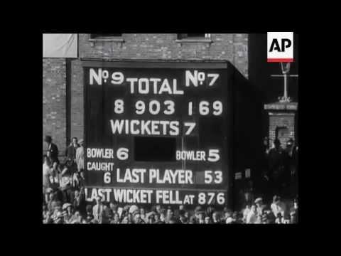 1938 Cricket 5th Test Match - Hutton breaks Bradman