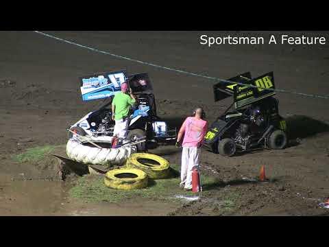 Port City Raceway Sportsman Heats and Feature 7/14/2018