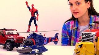 Машинка или вертолёт? Человек Паук: новый транспорт для супергероя.