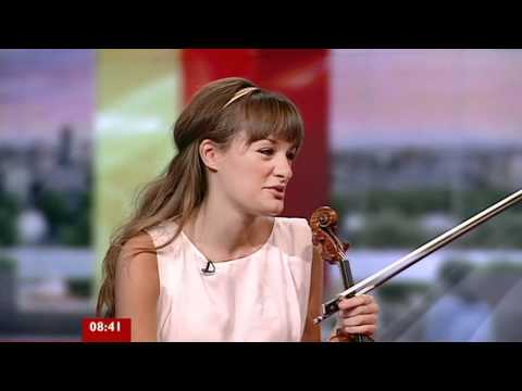 Nicola Benedetti live clip and interview on 'Italia' album (05 October 2011)