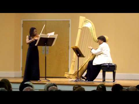 Ann Hobson Pilot, harp & Tai Murray, violin - Vocalise for violin and harp, TJ Anderson