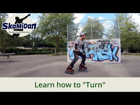 How To Turn On Inline Skates – Parallel Turn & Crossover Turn – Inline Skating Basics #04